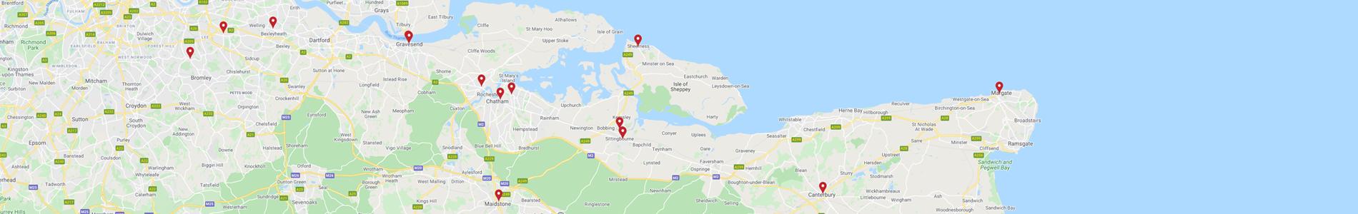Map of TJs E-cigarettes Store Locations