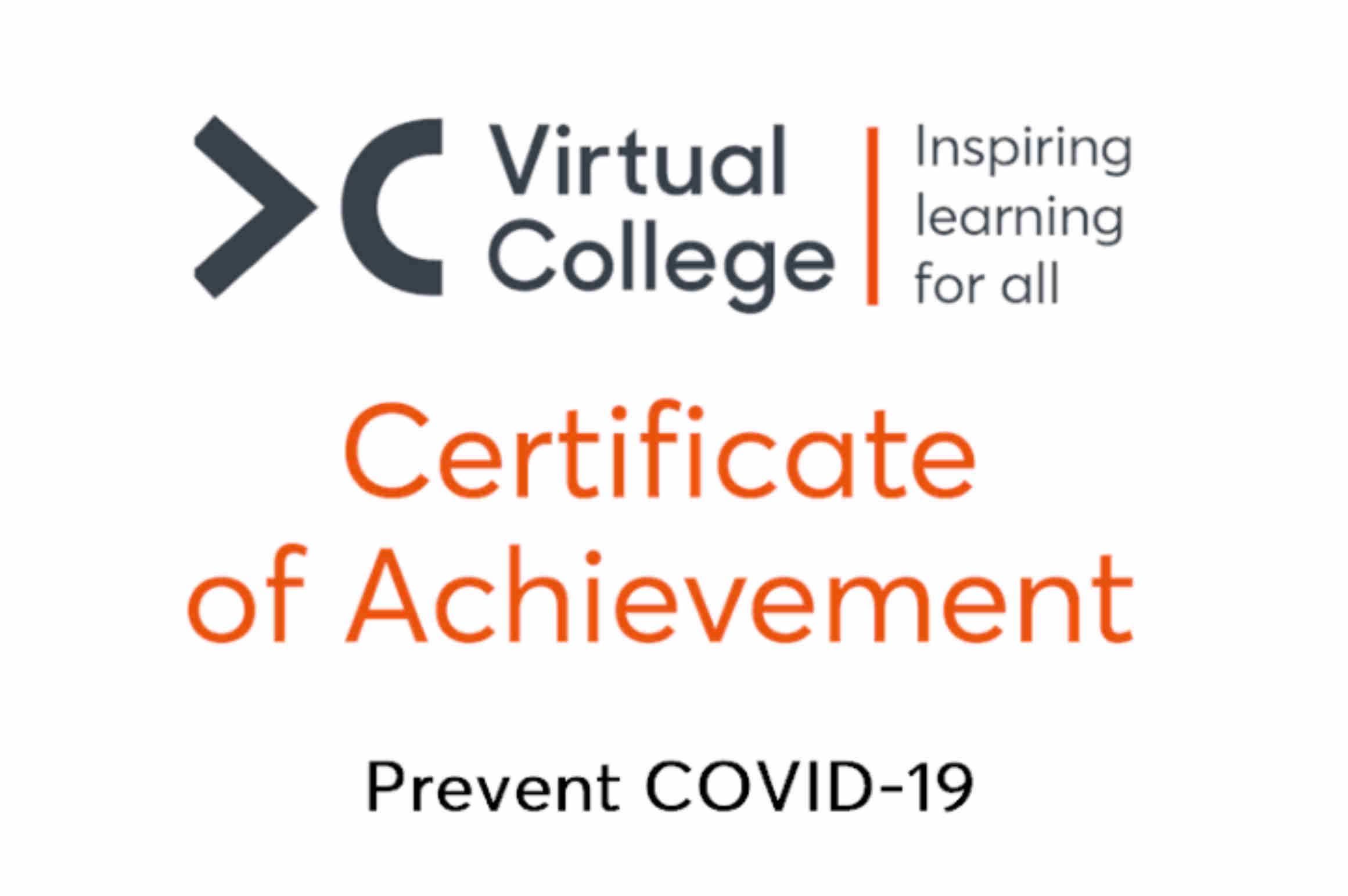 Certificate of Achievement COVID